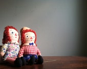 Raggedy Ann and Andy Dolls - Knickerbocker Toys