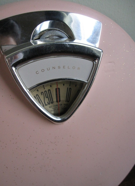 Vintage Pink Counselor Bathroom Scale