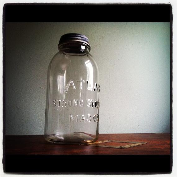 Mason Jar by ATLAS with Zinc Lid - HUGE