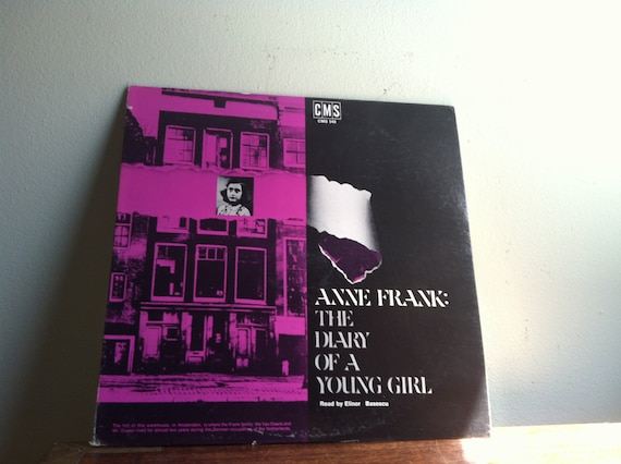 Anne Frank The Diary of a Young Girl on Vintage Record Album