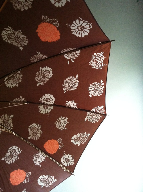 Umbrella - Peach Flowers - Made in Italy