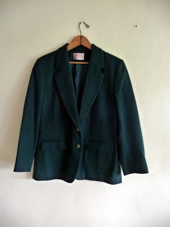 green boyfriend blazer jacket pendelton, medium