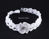 White Wedding choker with zirconiaEdit Title