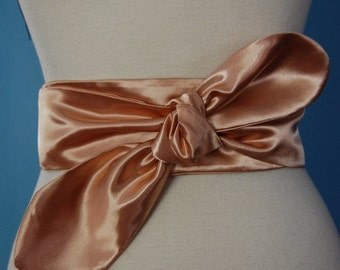 Champagne pink wrapped belt