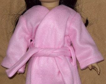 Pink Fleece Bathrobe fits 18 inch doll