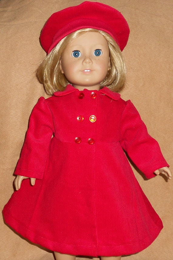 Corduroy Coat and matching Beret fits American Girl Doll