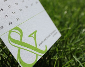 Ampersand Wedding Save the Date Invite Card with Calendar Sample Set