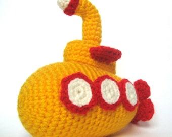 Crochet Submarine Toy Pattern