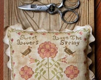 Sweet Lovers Love the Spring : Cross Stitch Pattern by Heartstring Samplery