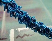 Poseidon // Ultimate shaggy loop chainmail bracelet in turquoise