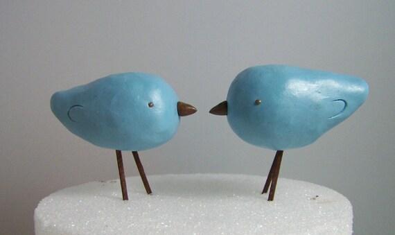 Bird Wedding Cake Topper Rustic Love Birds Decor - Colors of Choice
