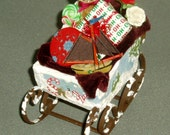 Dollhouse Christmas/ holiday sled stuffed with goodies...special sale price