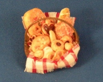 Bread and pastry combination in basket...great for your shop