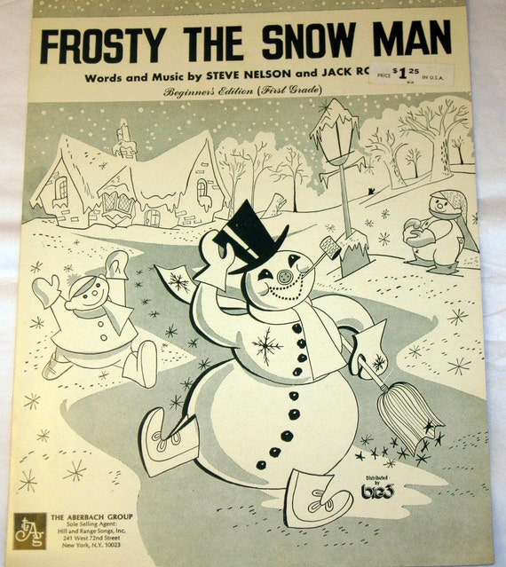 This is a picture of Canny Vintage Christmas Sheet Music Printable,frosty the Snowman