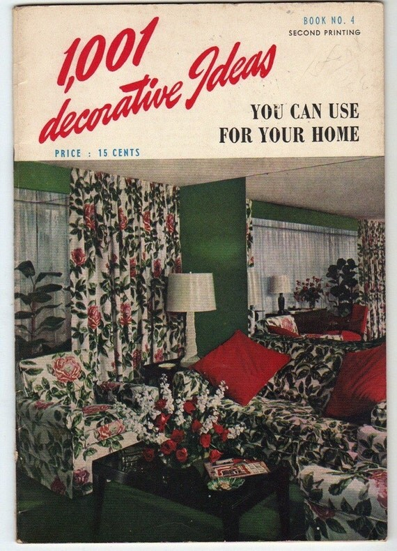 Http Www Etsy Com Listing 68412773 Vintage 1940s Home Decorating Booklet