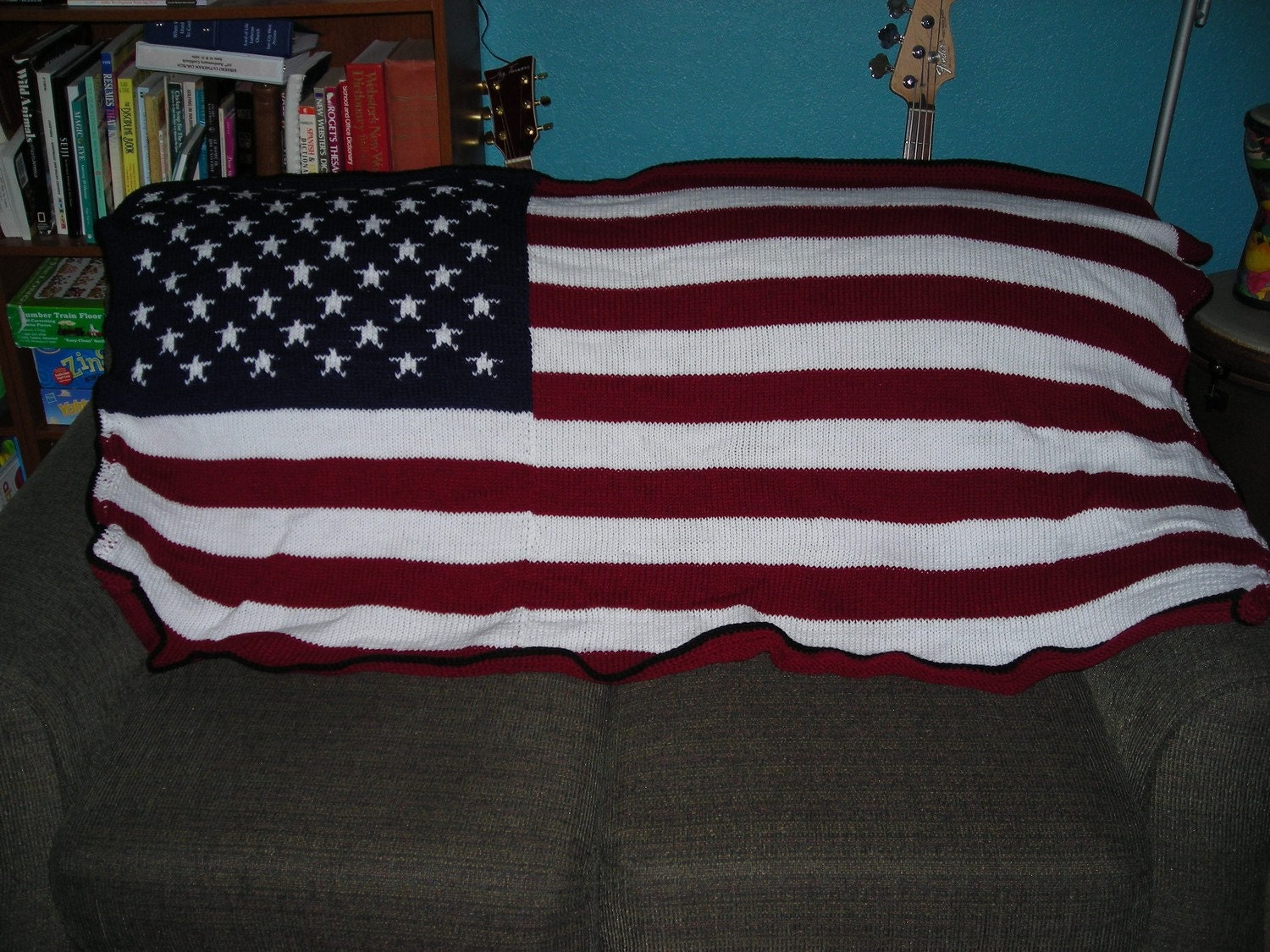 American Flag Knit Throw Blanket 40 Off Original By Musicraft