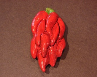 Chili Ristra - Bright Red Southwestern Peppers Magnet From Trace Lowe Designs