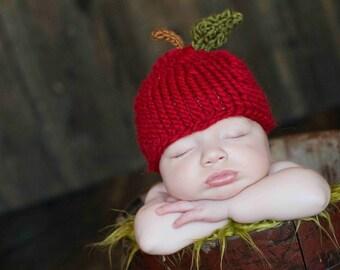 Apple Hat - Newborn Photo Prop - Baby Fall Photo