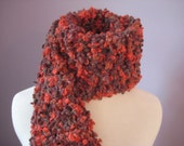 Unique and Fun Shades of Browns and Oranges Textured Scarf