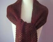 Knit Wrap, Knitted Wrap, Knit Scarf, Knitted Scarf, Knit Shawl, Knitted Shawl, Brown Knit Wrap, Rust Knitted Scarf Shawl Wrap