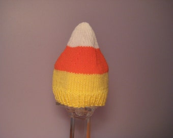 Knitted Baby Hat - Candy Corn Baby Hat