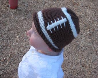 PATTERN Knit Football Hat for a Little Fan - PDF Football Hat Pattern