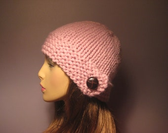 PATTERN Button Brim Knit Hat - PDF