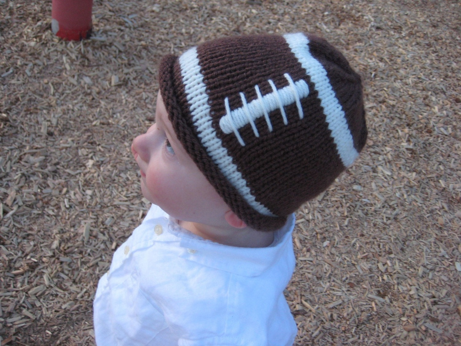 PATTERN Knit Football Hat for a Little Fan PDF by UpNorthKnits