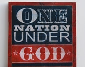 "Print- ""One Nation Under God"""
