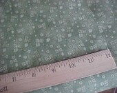 Tonal Green Morning Star Print One Yard of Fabric by P and B Textiles