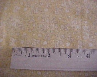 Tonal Yellow Morning Star Print One Yard of Fabric by P and B Textiles Free Shipping USA