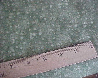 Tonal Green Morning Star Print One Yard of Fabric by P and B Textiles Free Shipping USA