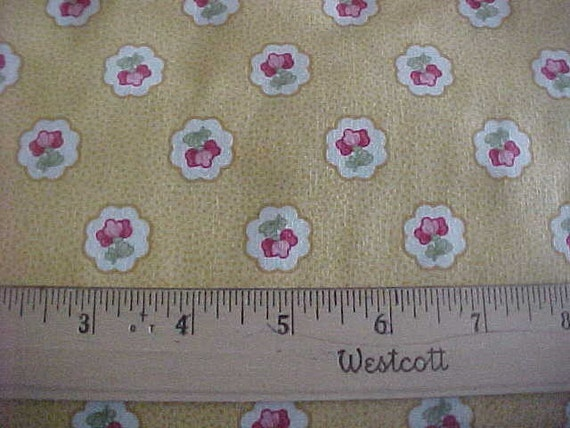 Morning Star on Yellow One Yard of Fabric by P and B Textiles