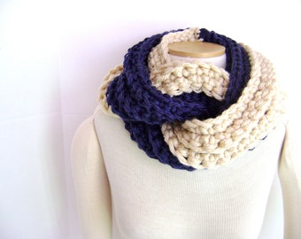 Crochet PATTERN for Chunky Twist Scarf Cowl - Great for the Beginner