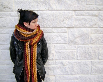 Crochet Scarf PATTERN for Mile Long Scarf Cowl - High End Look - Hand Made Goodness - Instant Download