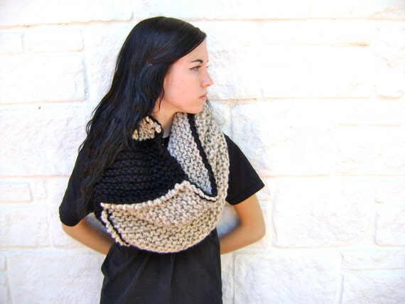Chunky Oversized Cowl PATTERN - Knitted Cowl Pattern - Instant Download
