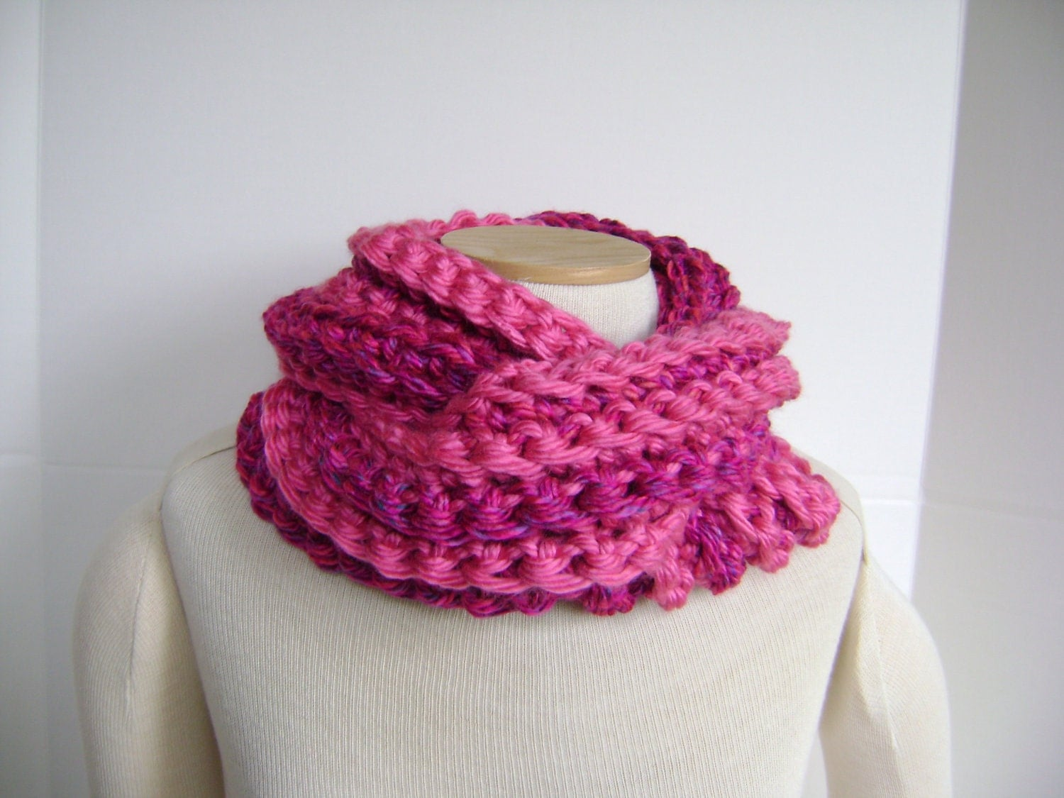 Crochet Cowl Scarf  ON SALE 28 reg 41 Mobius Style  For Woman or  Crochet Scarves For Sale