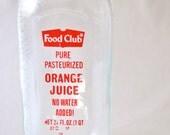 Glass Orange Juice Bottle