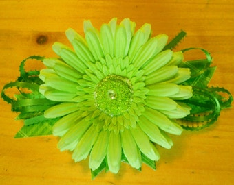 Lime Green Artificial Daisy Corsage