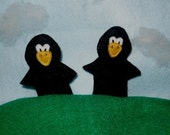 SAM Felt Finger Puppets - Sale - Two Little Black Birds