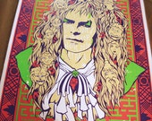 """HUGE 24""""x36 Screen Print """"It's Only Forever...Not Long At All"""""""