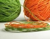 natural raffia twine . orange or green