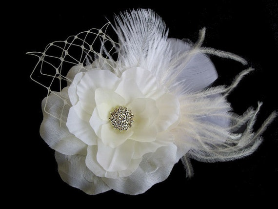 Listing Reserved for Irene -- Abby Flower Hair Clip and Julia Petite flower Brooch Pin