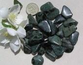 10 Green Kambaba Jasper Crystal Tumblestones, Green Crystals, Crystal Collection, Meditation Stone, Worry Beads, Chakra Crystals, Aura