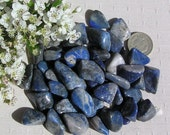 12 Lapis Lazuli Crystal Tumblestones (Small), Blue Crystals, Crystal Collection, Meditation Stone, Libra, Sagittarius, Worry Bead, Courage