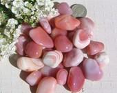 10 Apricot Agate Crystal Tumblestones, Crystal Collection, Orange Crystals, Chakra Crystals, Meditation Stone, Grounding Crystals, Gemini