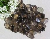10 Smoky Quartz Crystal Tumblestones, Chakra Crystals, Crystal Collection, Meditation Stone, Brown Crystals, Leo, Capricorn, Worry Bead