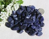 10 Blue Sodalite Crystal Tumblestones, Blue Crystals, Crystal Collection, Chakra Crystals, Meditation stone, Worry stone, Virgo, Sagittarius
