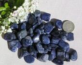 10 Blue Dumortierite Crystal Tumblestones, Crystal Collection, Blue Crystals, Chakra Crystals, Reiki, Blue Tumblestones, Meditation Stone