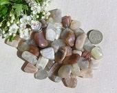 10 Moonstone Crystal Tumblestones, Crystal Collection, Chakra Crystals, Cancer, Scorpio, Aquarius, Reiki Crystals, Meditation Stone